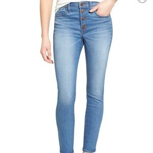 Madewell skinny crop button through edition, 28